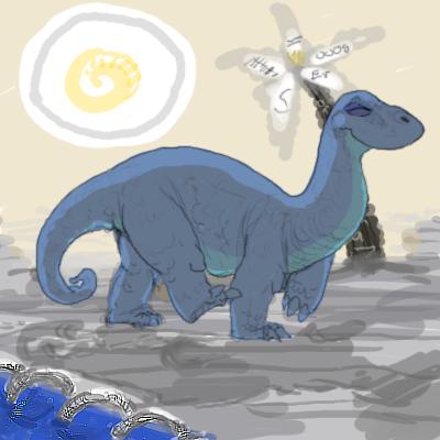 The Dinosaaaaur. by KelpGull