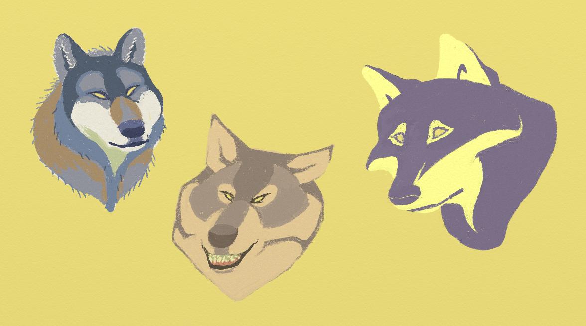 Wolf Portraits by KelpGull
