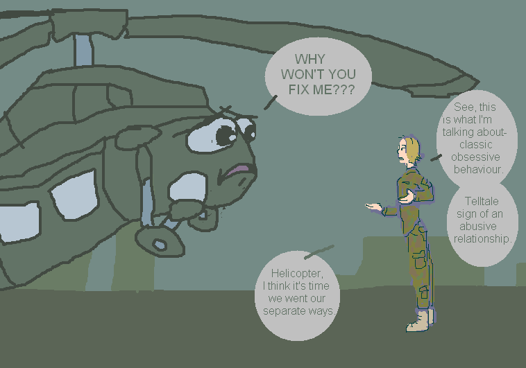 No Helicopter by KelpGull