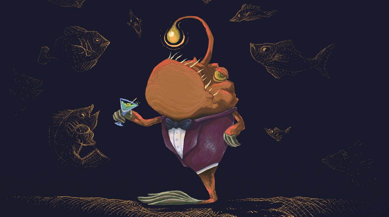 Dapper Anglerfish by KelpGull