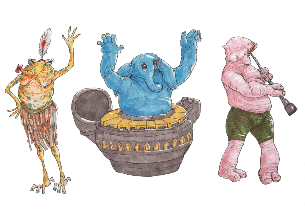 Max Rebo and the Band by KelpGull