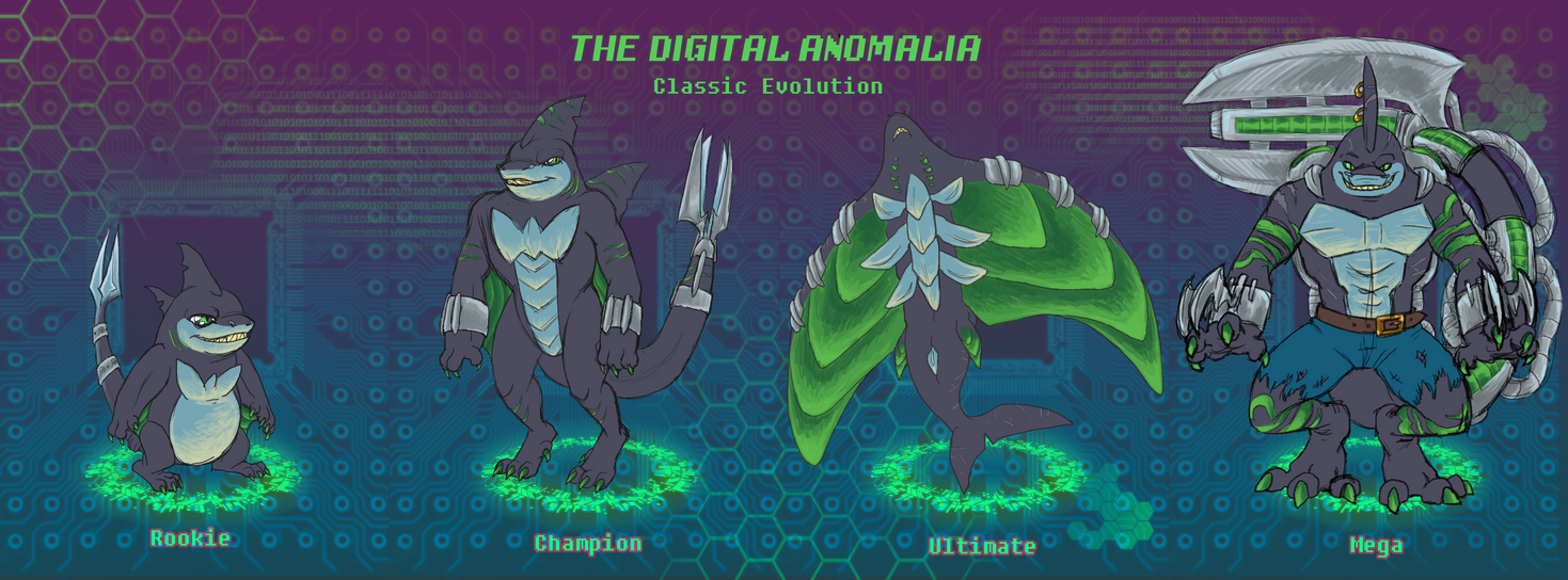 Battomon Digivolution by KelpGull