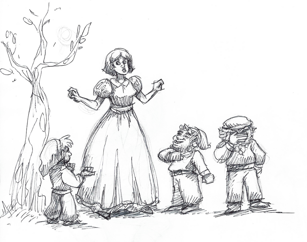 Disney Inktober #1 - Snow White by KelpGull