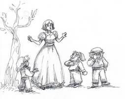 Disney Inktober #1 - Snow White