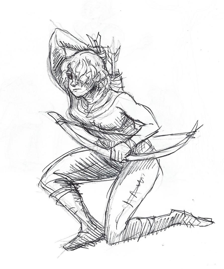 Inktober #1 - Swift by KelpGull