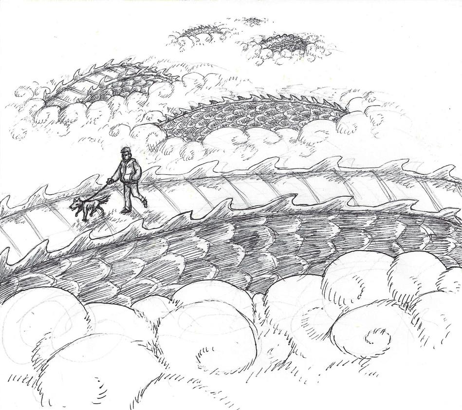 Inktober #5 - Long by KelpGull