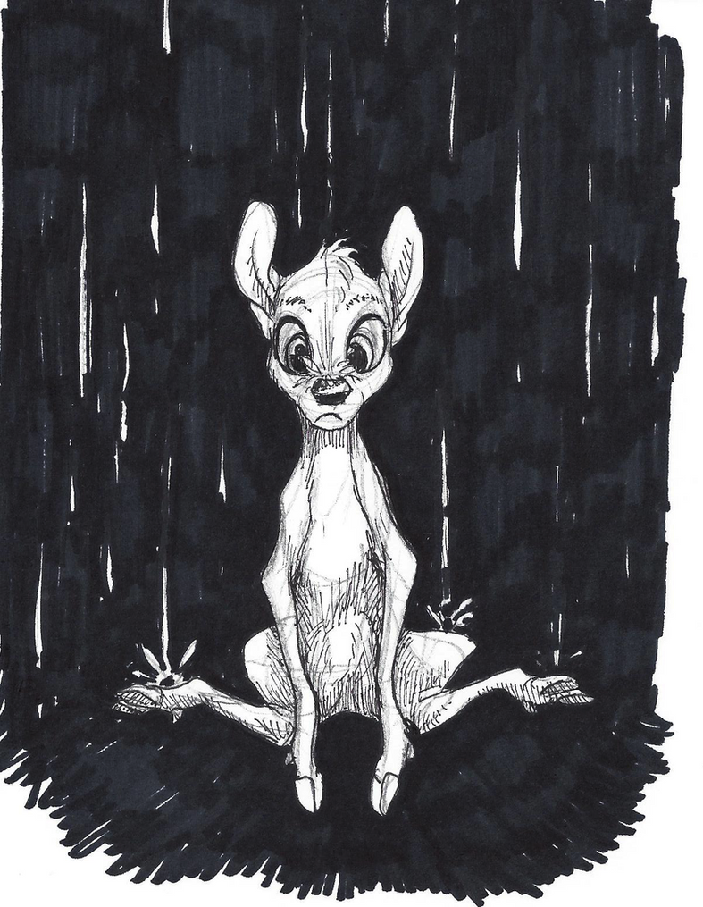 Disney Inktober #5 - Rain by KelpGull