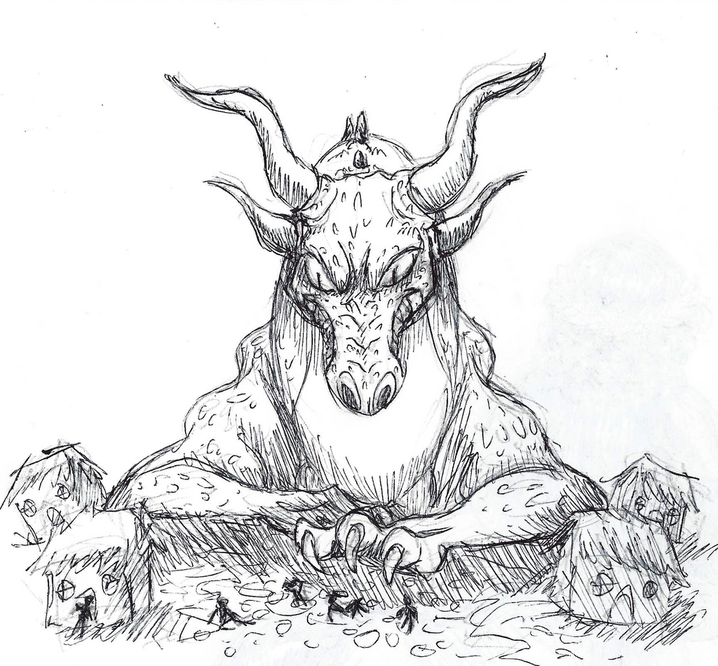Inktober #10 - Gigantic by KelpGull