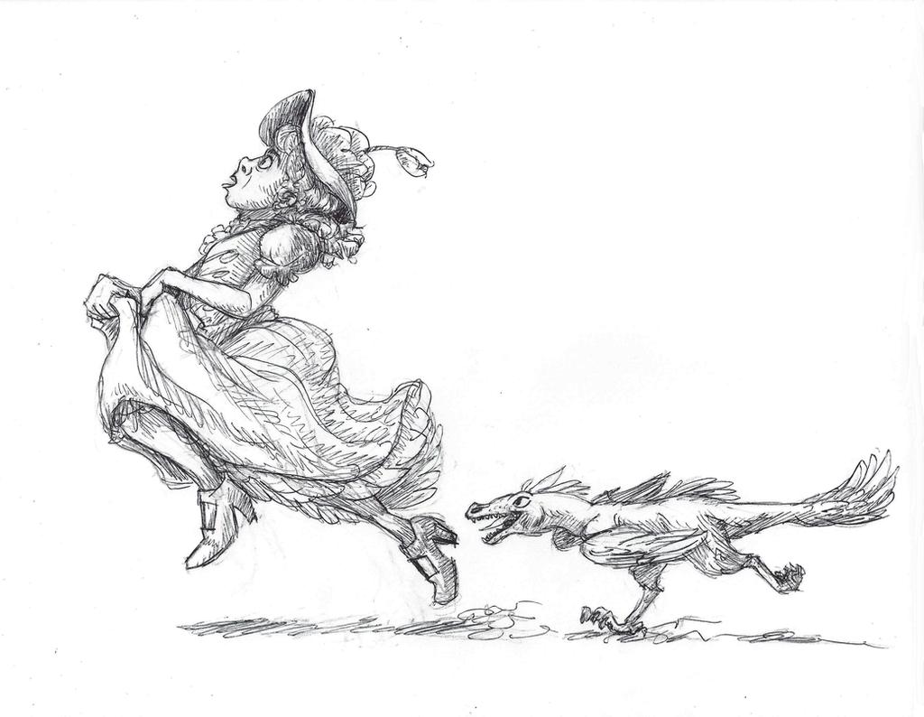 Inktober #11 - Run by KelpGull