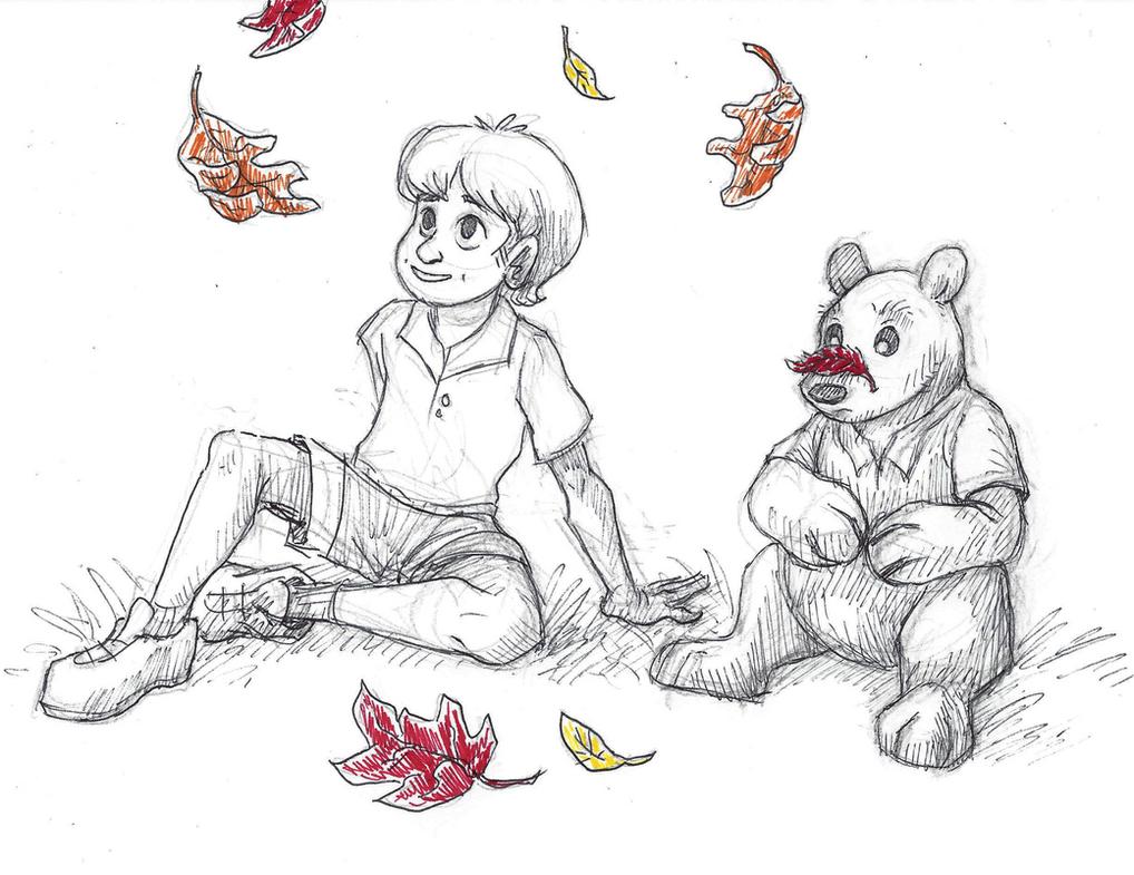 Disney Inktober #13 - Fall Leaves by KelpGull