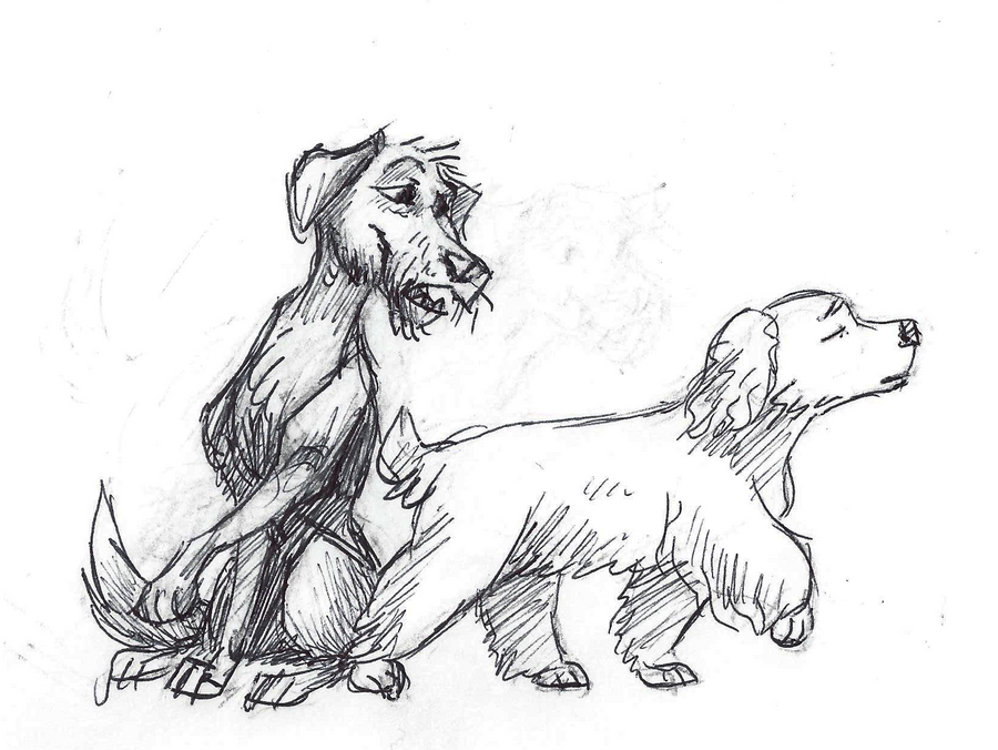 Disney Inktober #18 - Dogs by KelpGull
