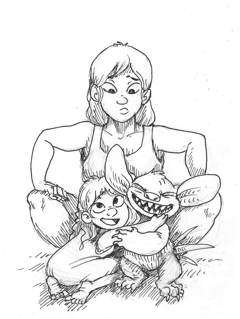 Disney Inktober #20 - Family by KelpGull
