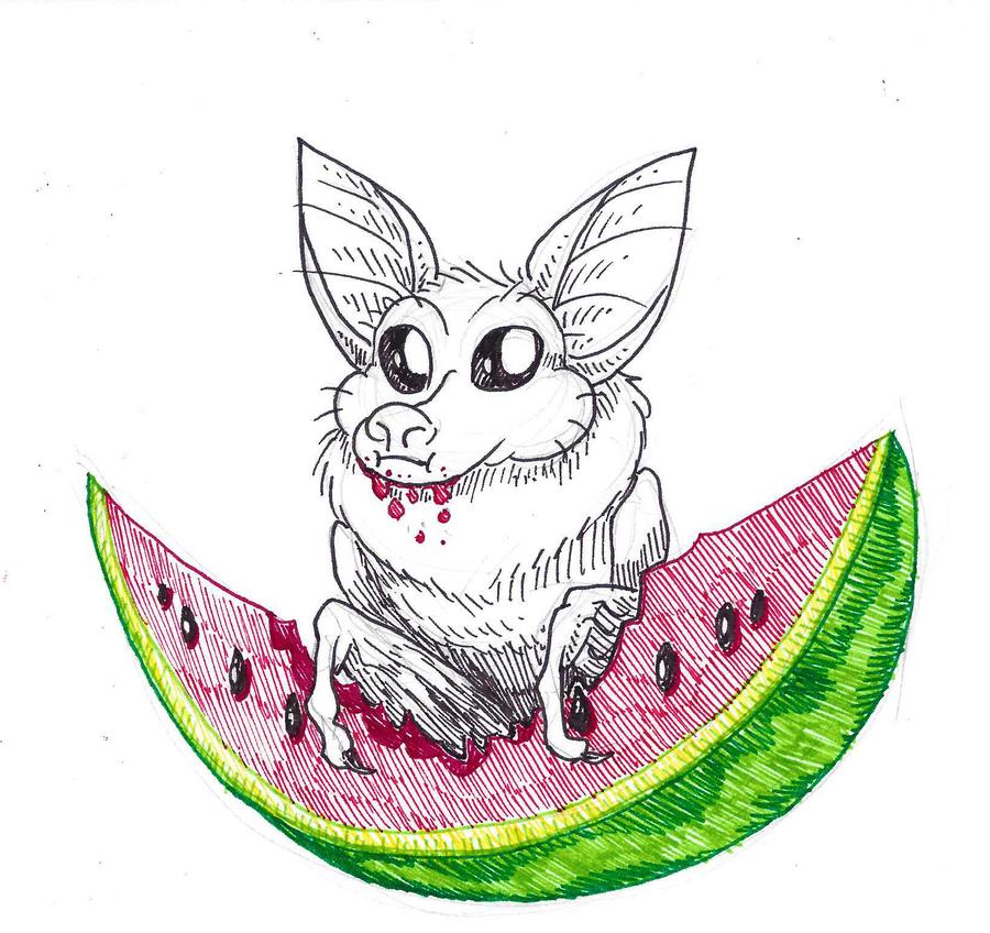 Inktober #23 - Juicy by KelpGull