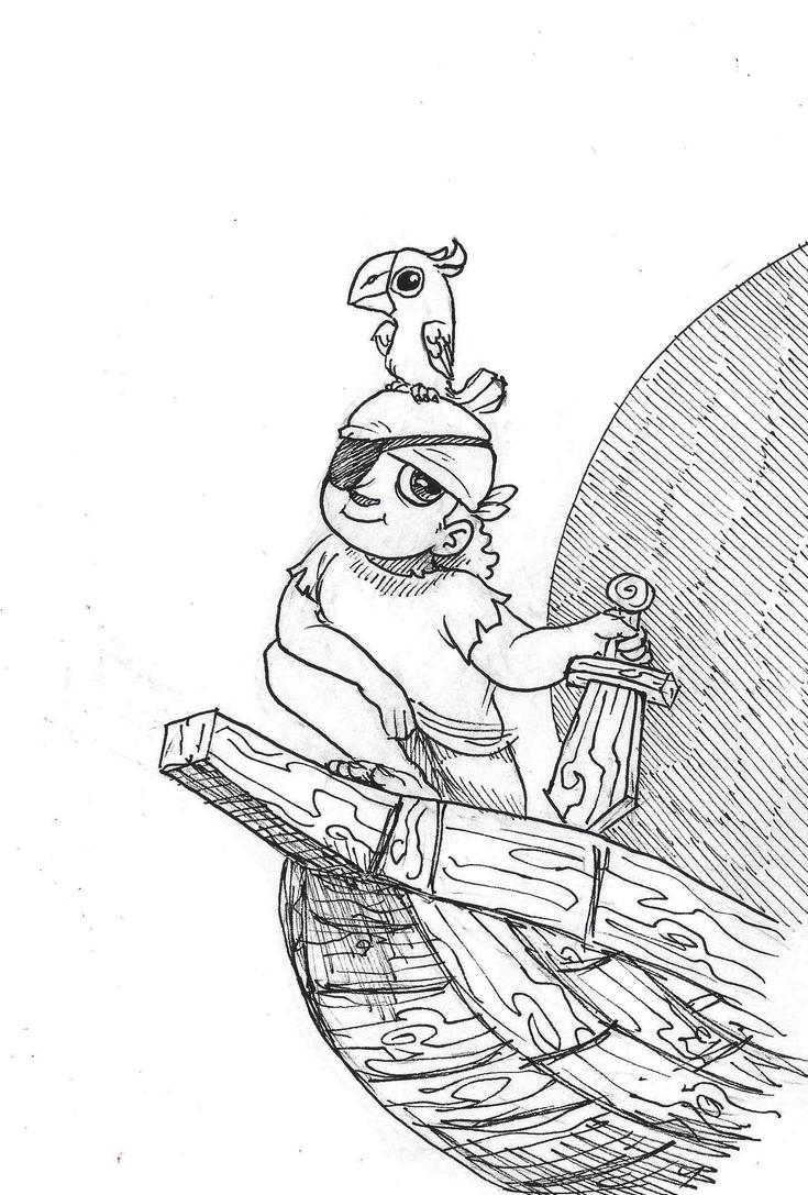 Inktober #25 - Ship by KelpGull