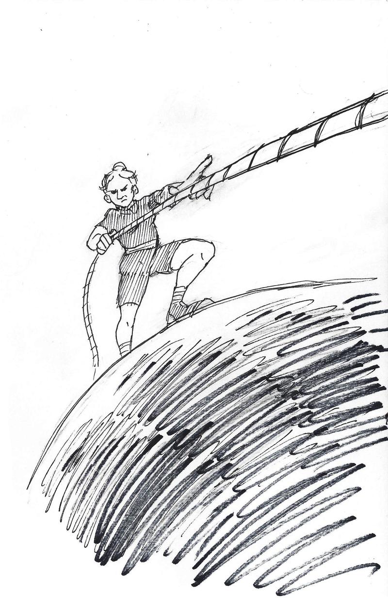 Inktober #27 - Climb by KelpGull