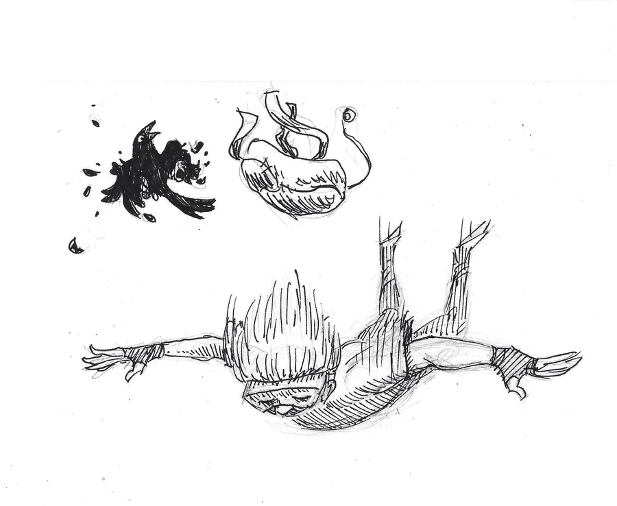 Inktober #28 - Fall by KelpGull