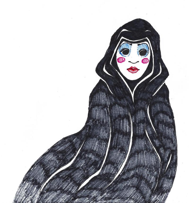 Inktober #31 - Mask by KelpGull