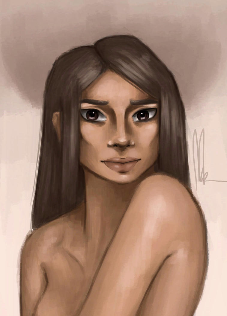 Skin shading study by SheReadsALot