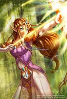 Princess Zelda Legend of Zelda by nayuki-chan