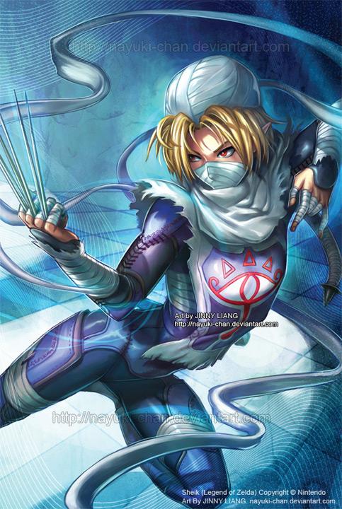 Sheik - Legend of Zelda by nayuki-chan
