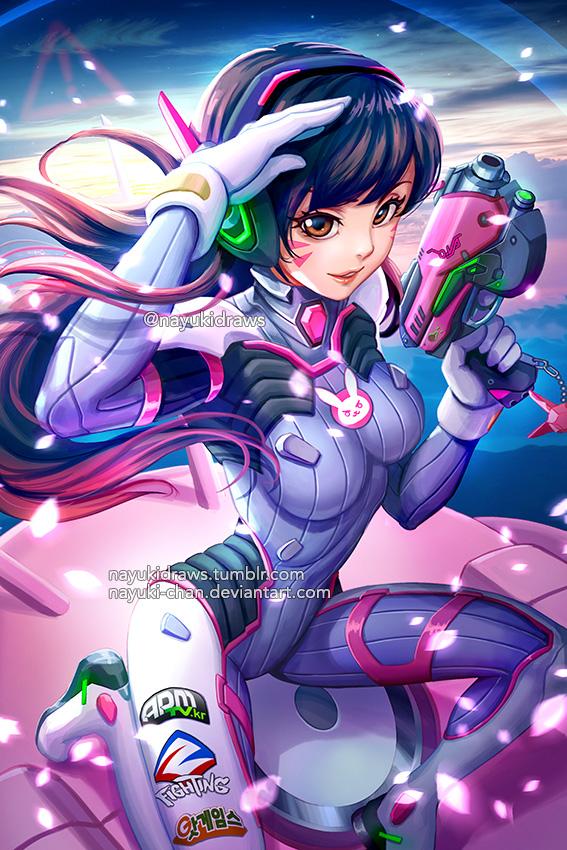 Overwatch - D.Va by nayuki-chan