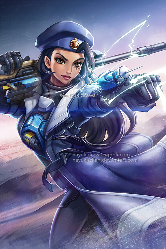 Overwatch - Captain Ana Amari by nayuki-chan