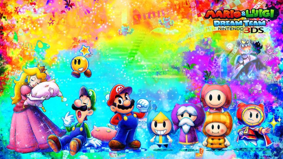 Mario And Luigi Dream Team Wallpaper By Rafaelmartins On Deviantart
