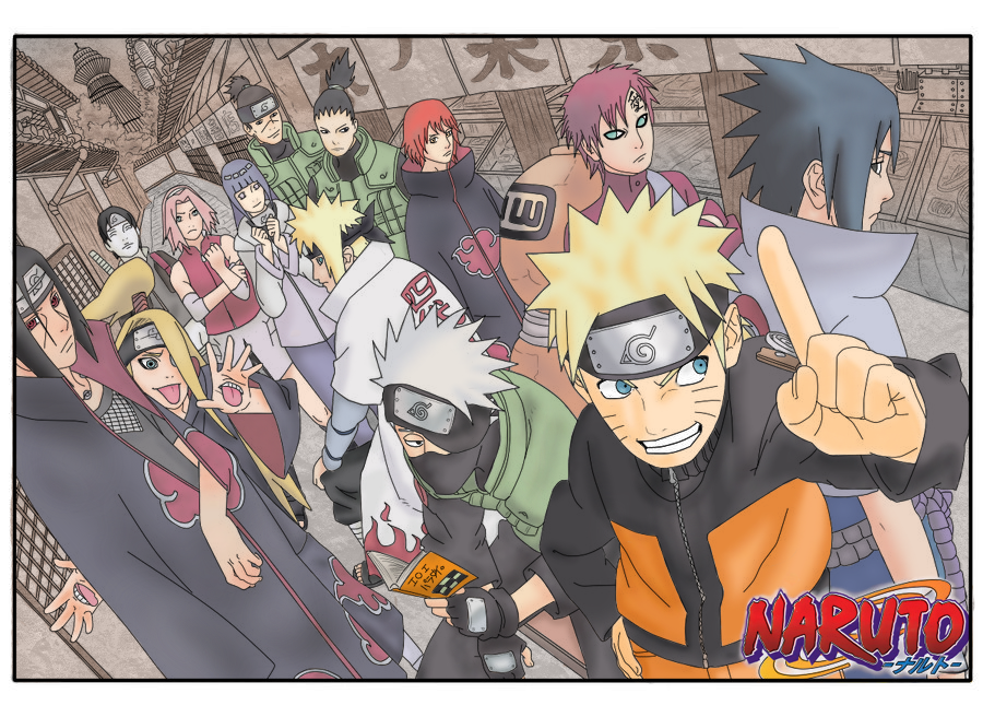 Anime Characters Popularity Poll : Naruto popularity poll cover by luchi san on deviantart