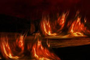 Field Fire Premade Background