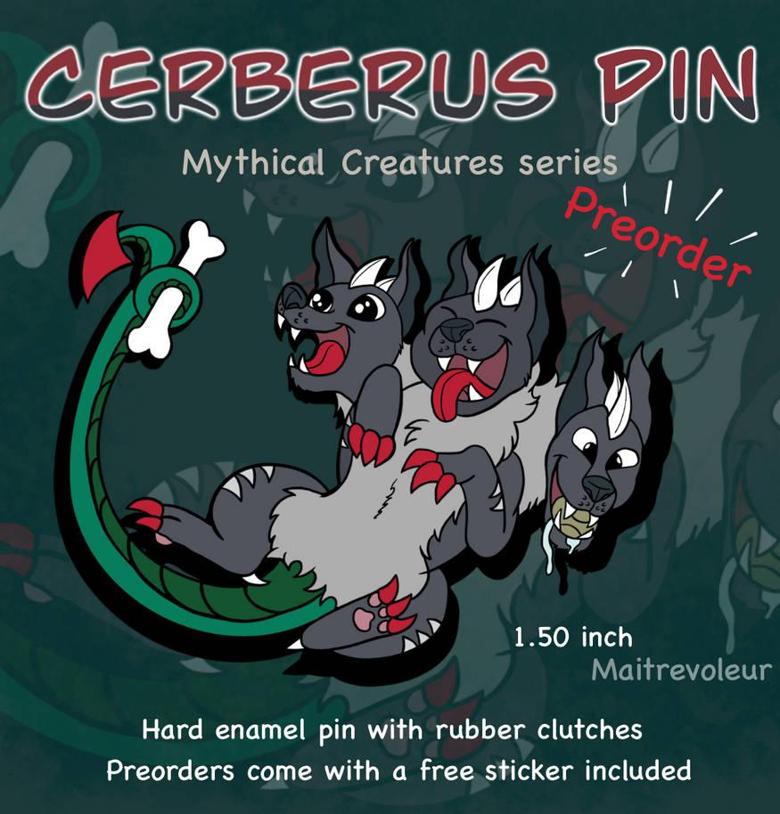 Cerberus Belly Rub Pin