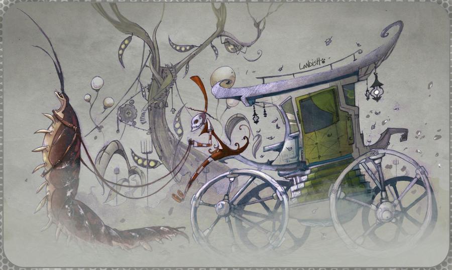 Armadillo and rider by AlexLandish