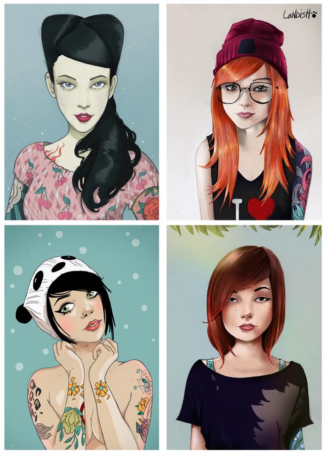 Different girls by AlexLandish