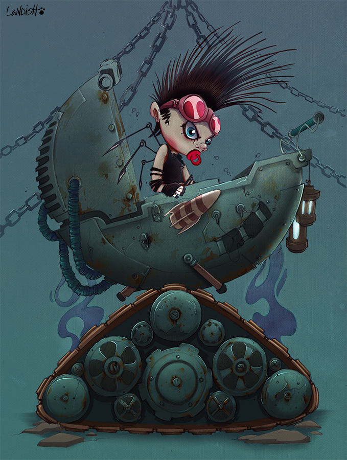 Cyber baby by AlexLandish