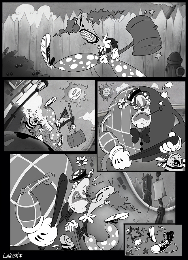 BW clown by AlexLandish
