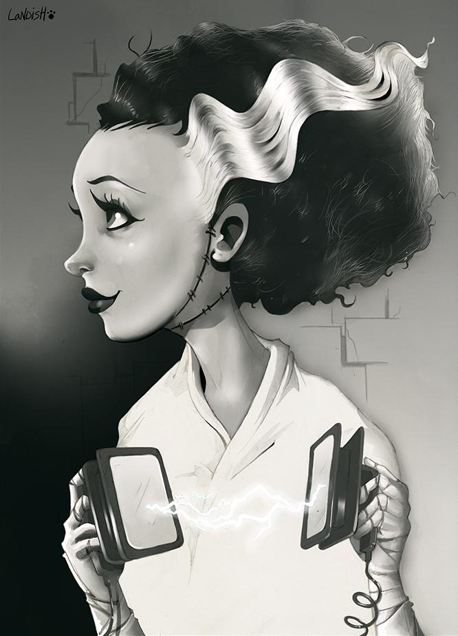 The Bride of Frankenstein by AlexLandish on DeviantArt