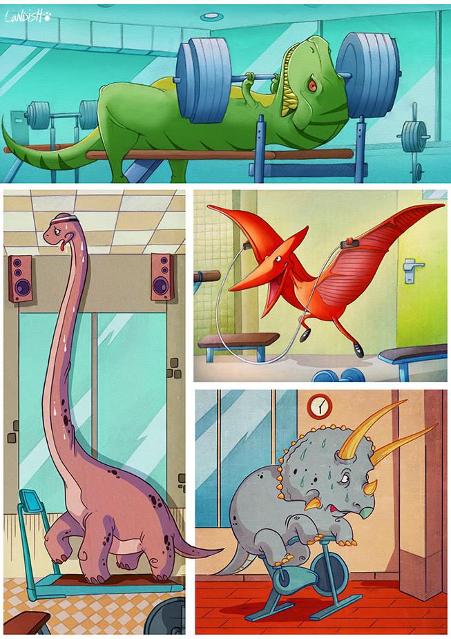 Jurassic Gym by AlexLandish