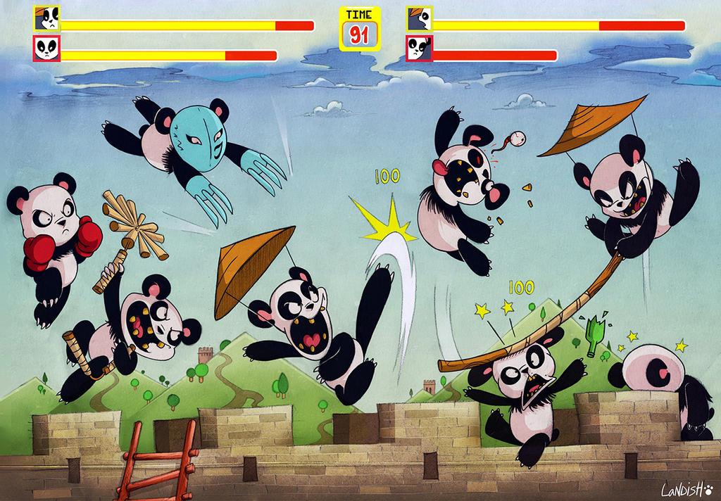 Pandas Against Boredom II (Remake) by AlexLandish