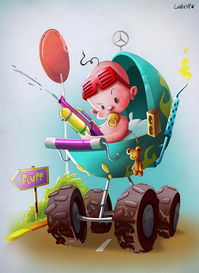Baby on board by AlexLandish