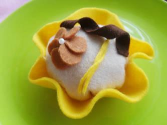 Chocolate and orange cupcake