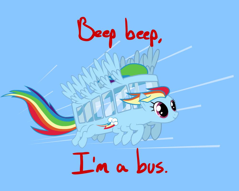 Rainbow Dash Ponybus by LordBojangles