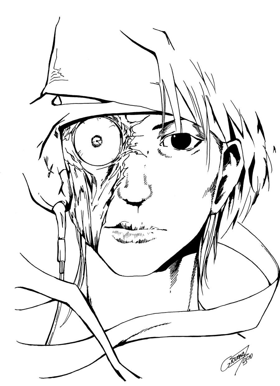 Mukuro Face lineart by EUDETENIS