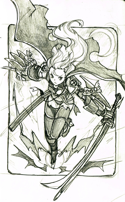 Female Warrior by EUDETENIS