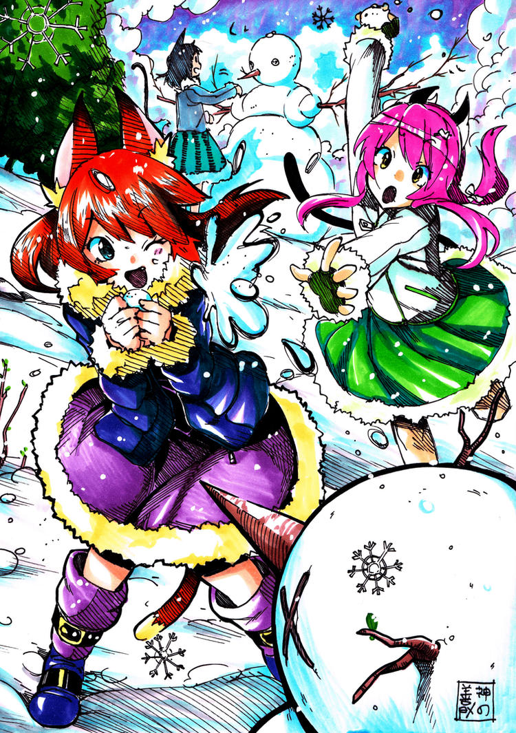 Neko Snowfight by EUDETENIS