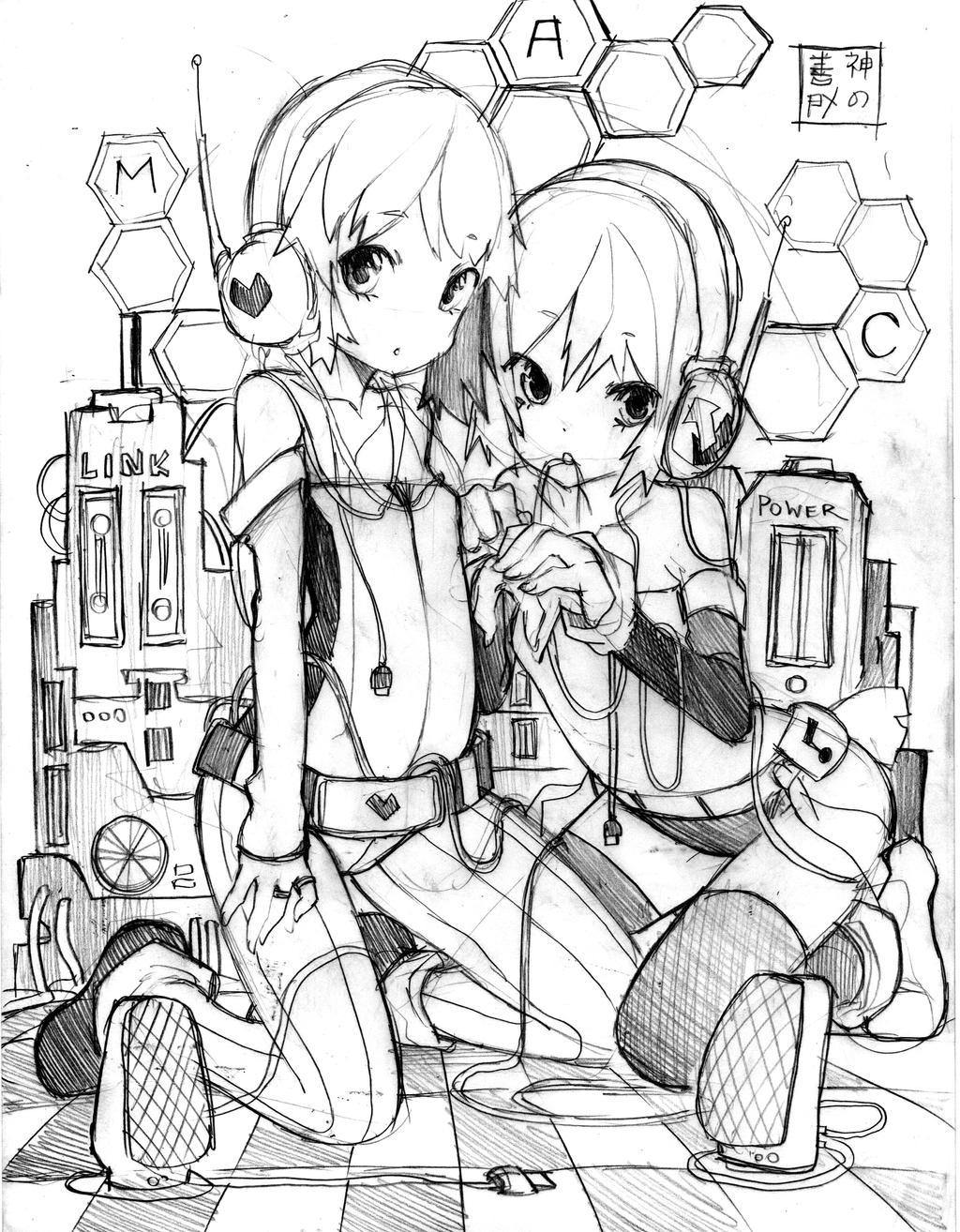 Loli Network Sketch by EUDETENIS