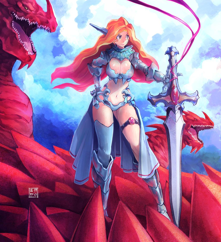 Dragongirl Adoptable by EUDETENIS