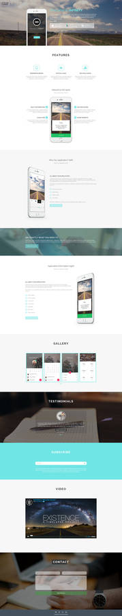 Infinity a Free App Template