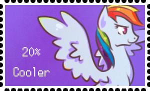 MLP Rainbowdash Stamp -Animated- by StickFigureQueen