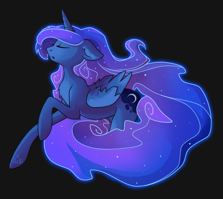 MLP: Luna by Stickaroo