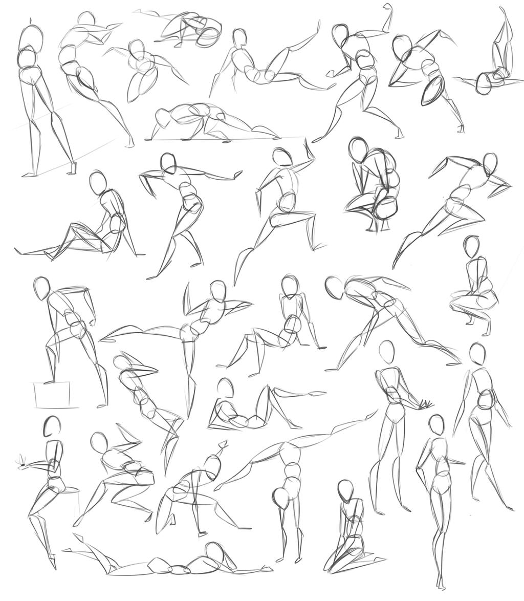 Pose Practice by StickFigureQueen