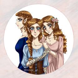 Archeron sisters by heiseihi